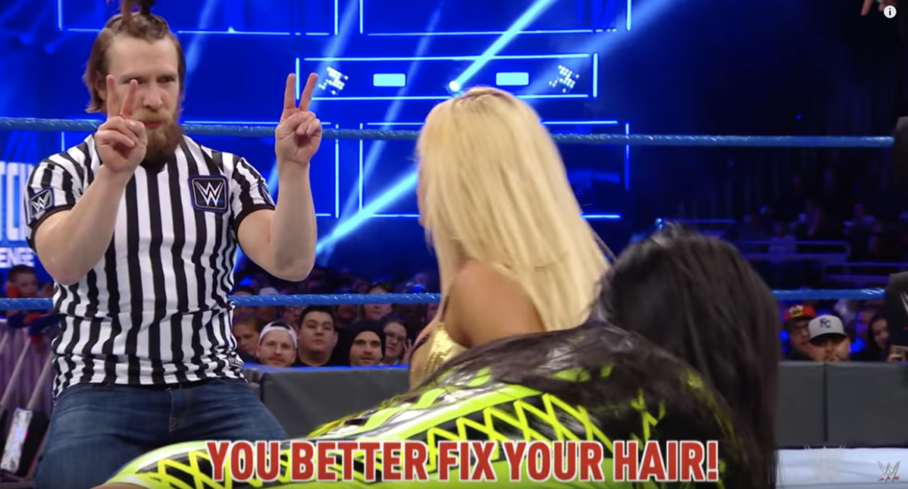 Mandy Rose addresses Daniel Bryan's hairstyle in the Mixed Match Challenge