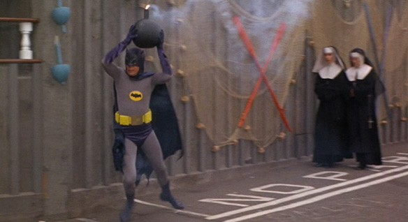 Adam West's Batman can't get rid of a bomb