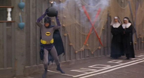 Adam West's Batman can't get rid of a bomb