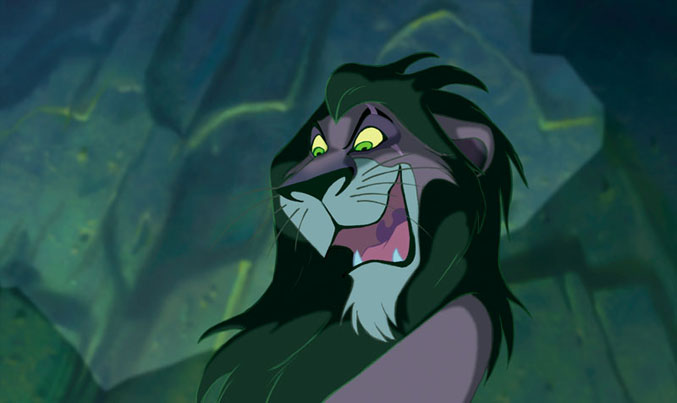 "Scar from The Lion King sings ""Be Prepared"""