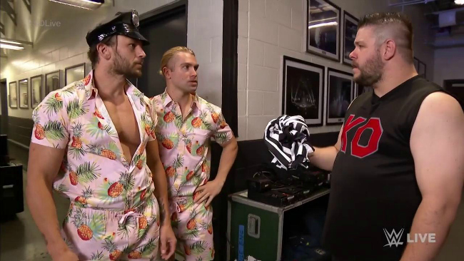 KO approaches Breezango about being special referee for his title match
