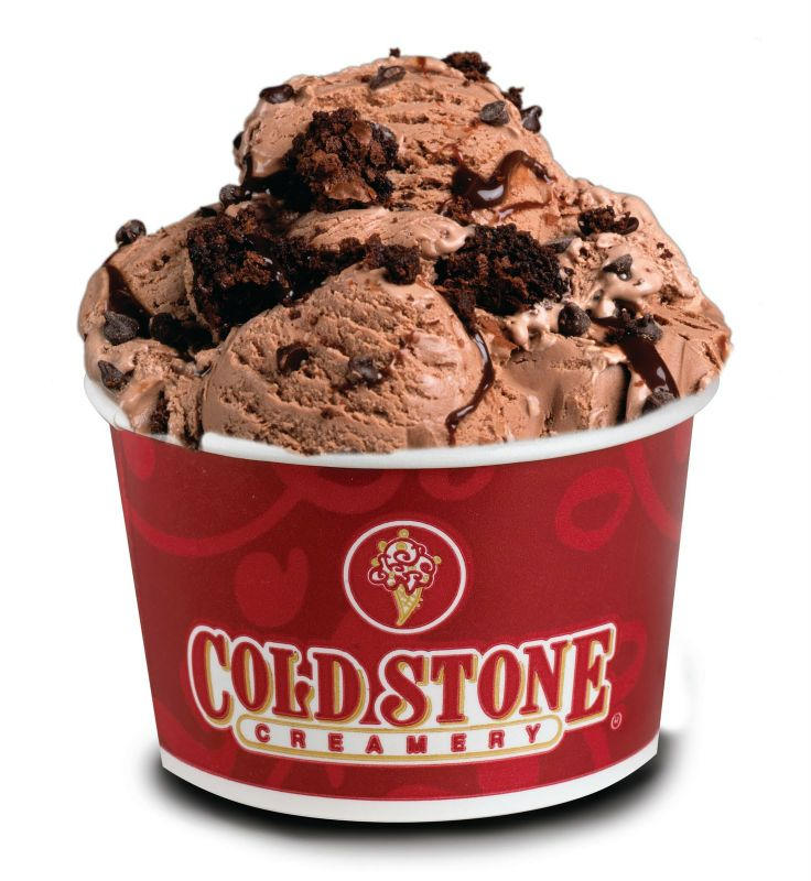 Brownie bites in chocolate ice cream from Cold Stone Creamery