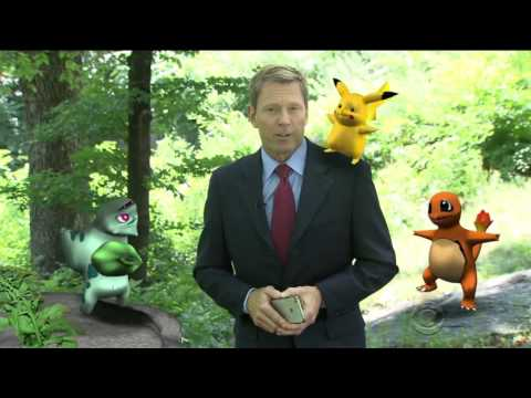 Pokemon Go as seen on CBS News