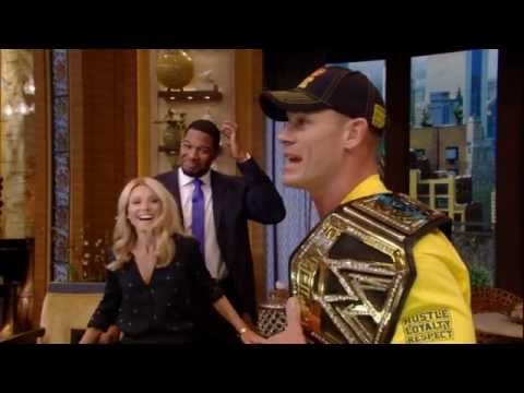 John Cena appears on Live With Kelly And Michael