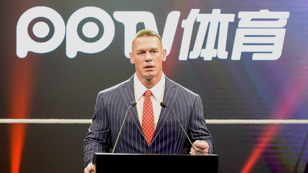 John Cena speaks at Chinese press conference on behalf of WWE