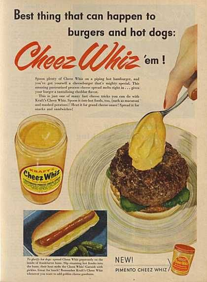 Cheez Whiz ad from back in the day
