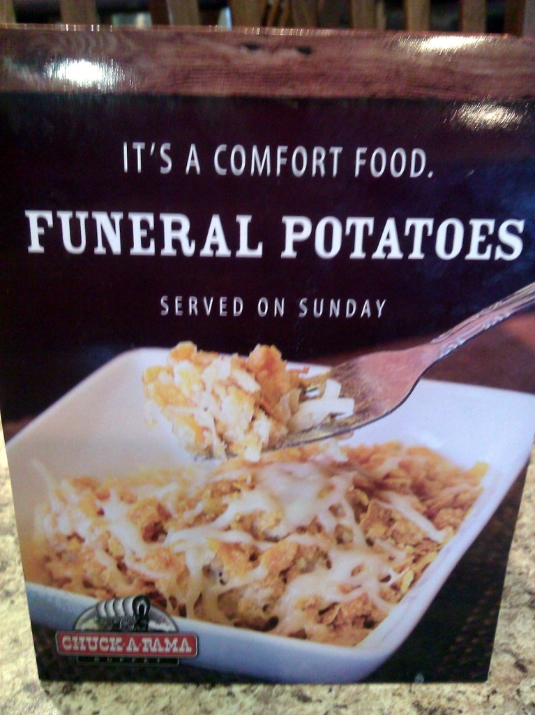 Funeral potatoes at Chuck-A-Rama