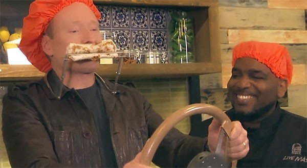 Conan O'Brien visits Taco Bell headquarters