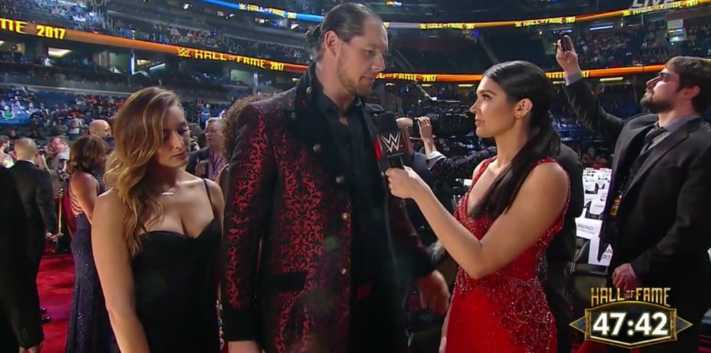 Baron Corbin is interviewed at the WWE Hall of Fame Ceremony 2017