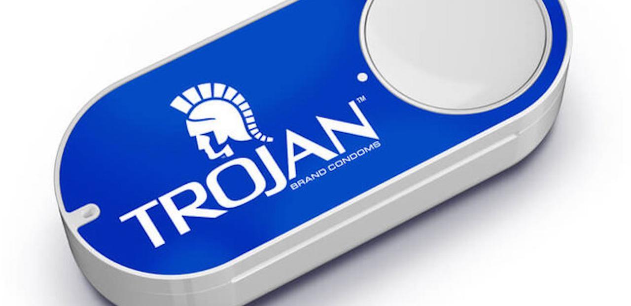 Amazon Dash button for ordering Trojan condoms