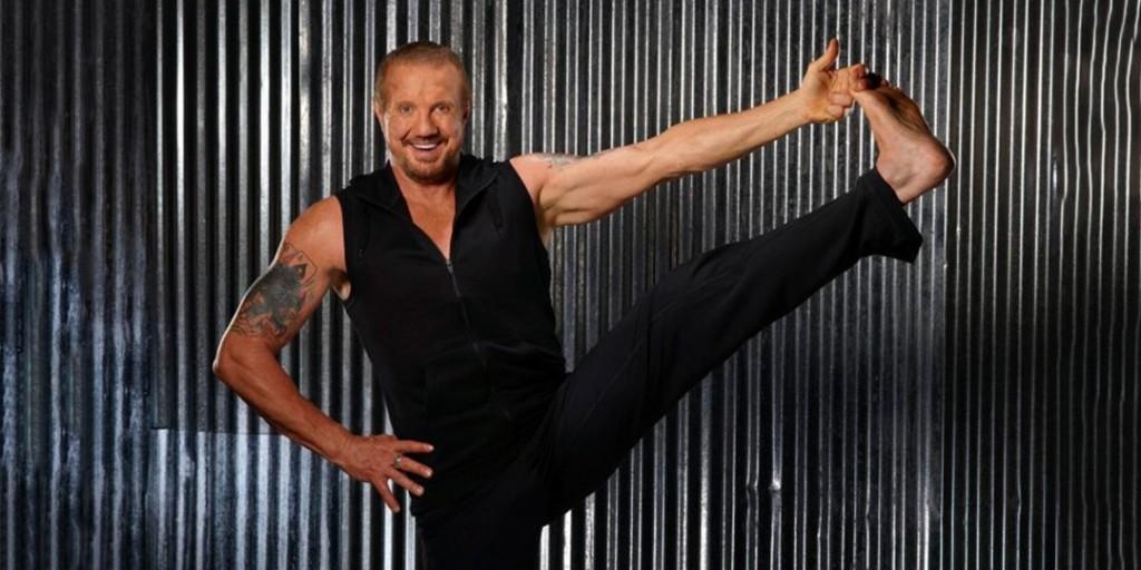 DDP shows off his yoga technique