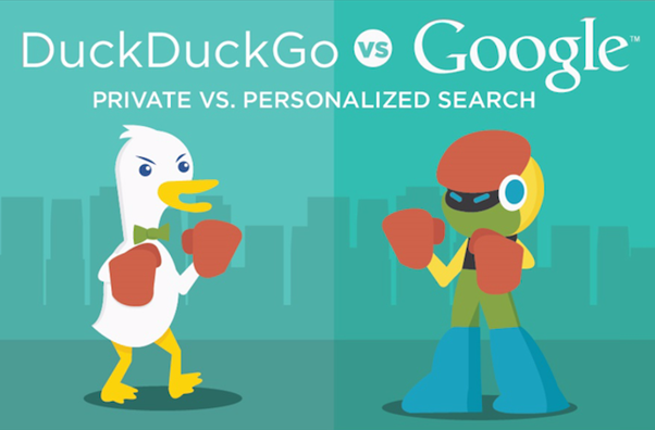 If DuckDuckGo and Google search engines were able to fight