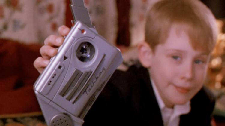 Kevin from Home Alone 2 shows off his Talkboy