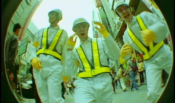 "A still from the video for ""Intergalactic"" by the Beastie Boys"