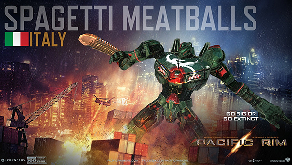 Create your own jaeger for Italy: Spaghetti Meatballs