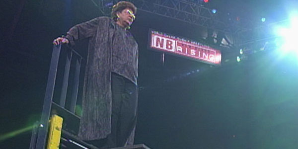 Judy Bagwell on a Pole Match at WCW New Blood Rising