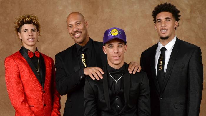 LaVar Ball and his family
