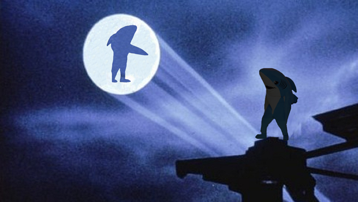 Left Shark as Batman
