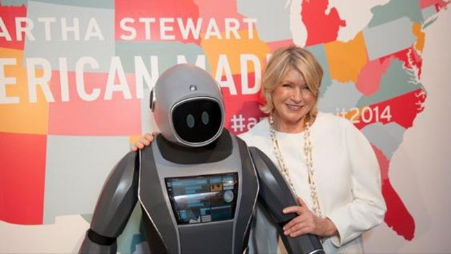 Martha Stewart and a robot butler