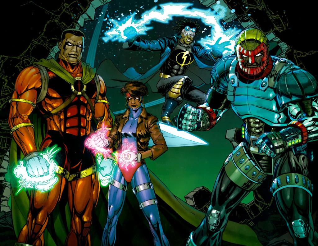 The stars of Milestone Comics