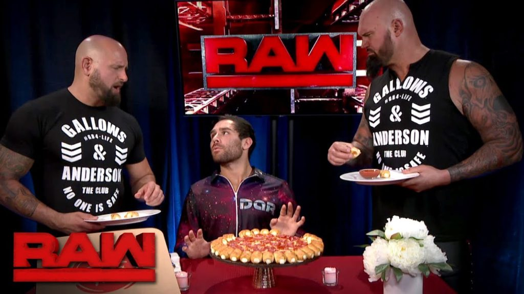 Noam Dar attempts to enjoy his Pizza Hut Cheesy Bites Pizza but is interrupted by The Club