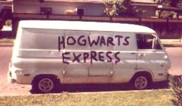 This van is very much not the Hogwarts Express