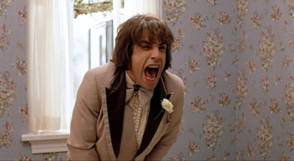 Ben Stiller in There's Something About Mary infamously zips his genitals into his pants zipper