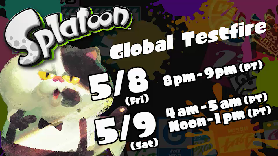 Play times for Splatoon Global Testfire