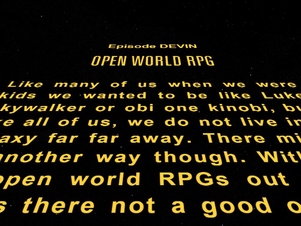 Open World RPG on Kickstarter