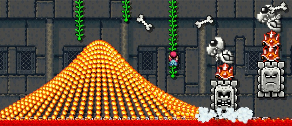 A hard level in Super Mario Maker (but not the hardest)