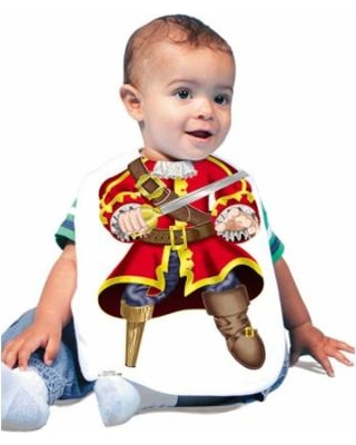 Baby in swashbuckler bib