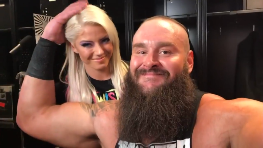 Team LittleBig (Alexa Bliss and Braun Strowman in the Mixed Match Challenge)