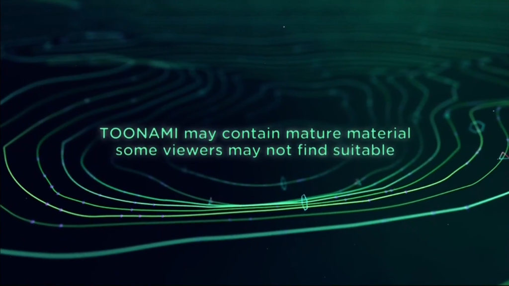 A disclaimer for Toonami on Adult Swim