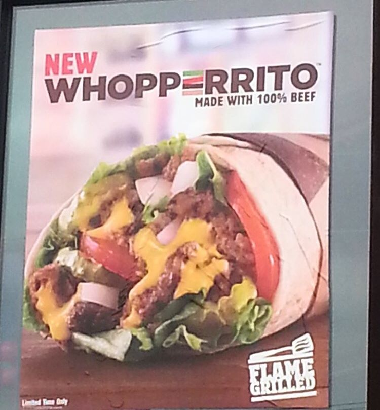 The Whopperrito from Burger King