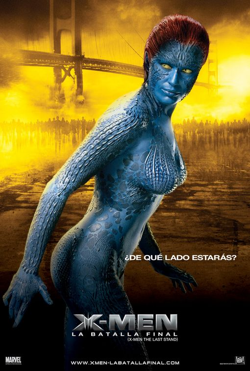Mystique from X-Men: The Last Stand (poster in Spanish)